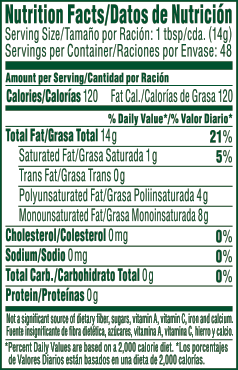 Canola Oil Nutrition Facts