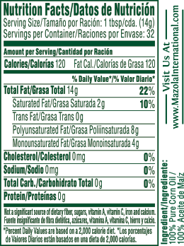 Corn Oil Nutrition Facts